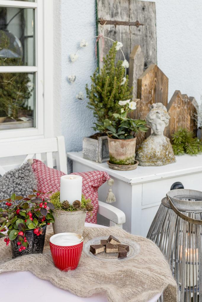 Advent und weihnachtliche Stimmung im Garten, Pomponetti