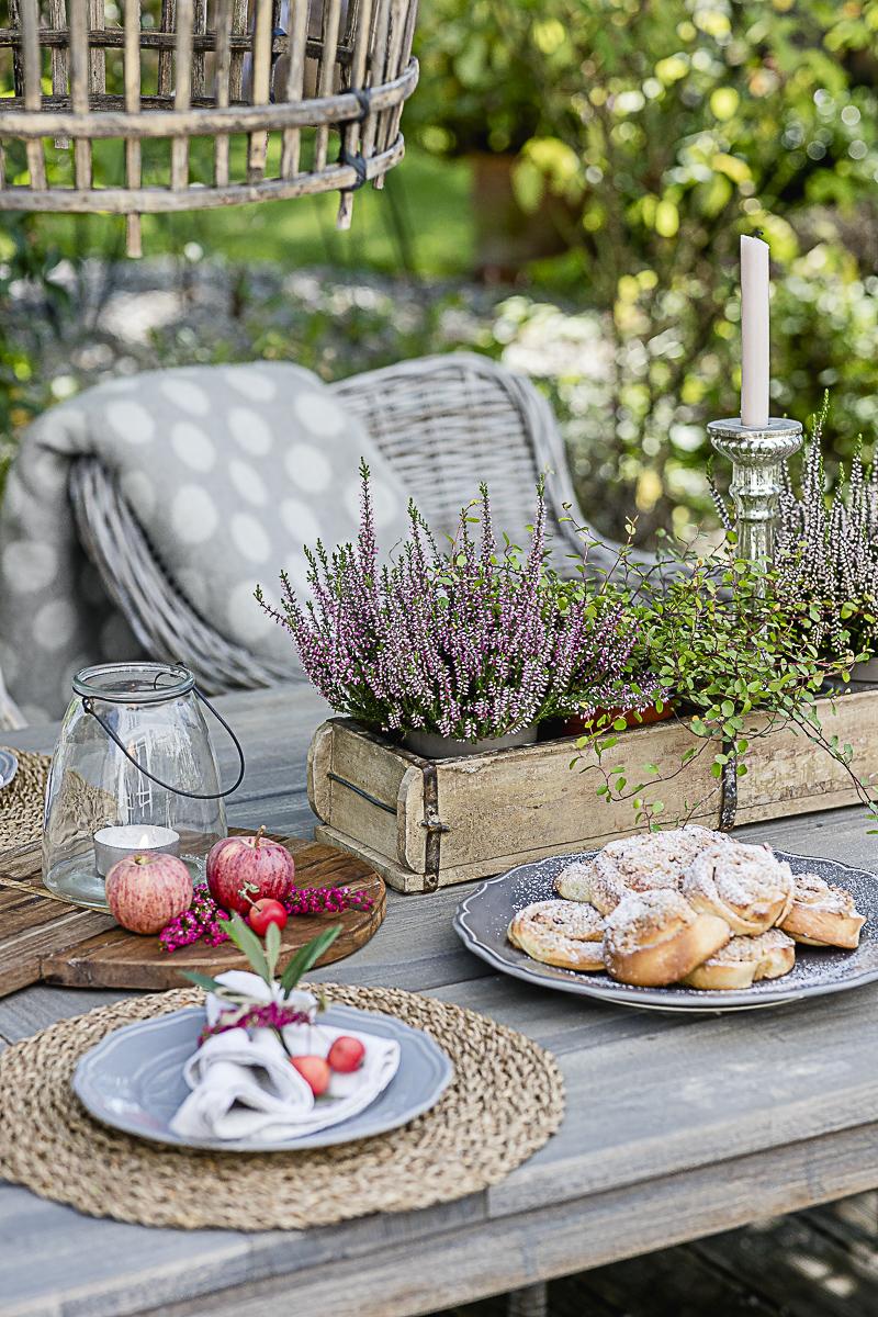 Tischdekoration Herbst, Pomponetti