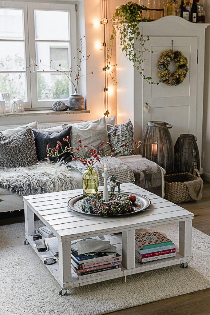 Herbstdeko- Ideen oder letzter Blick auf das Sofa, Pomponetti